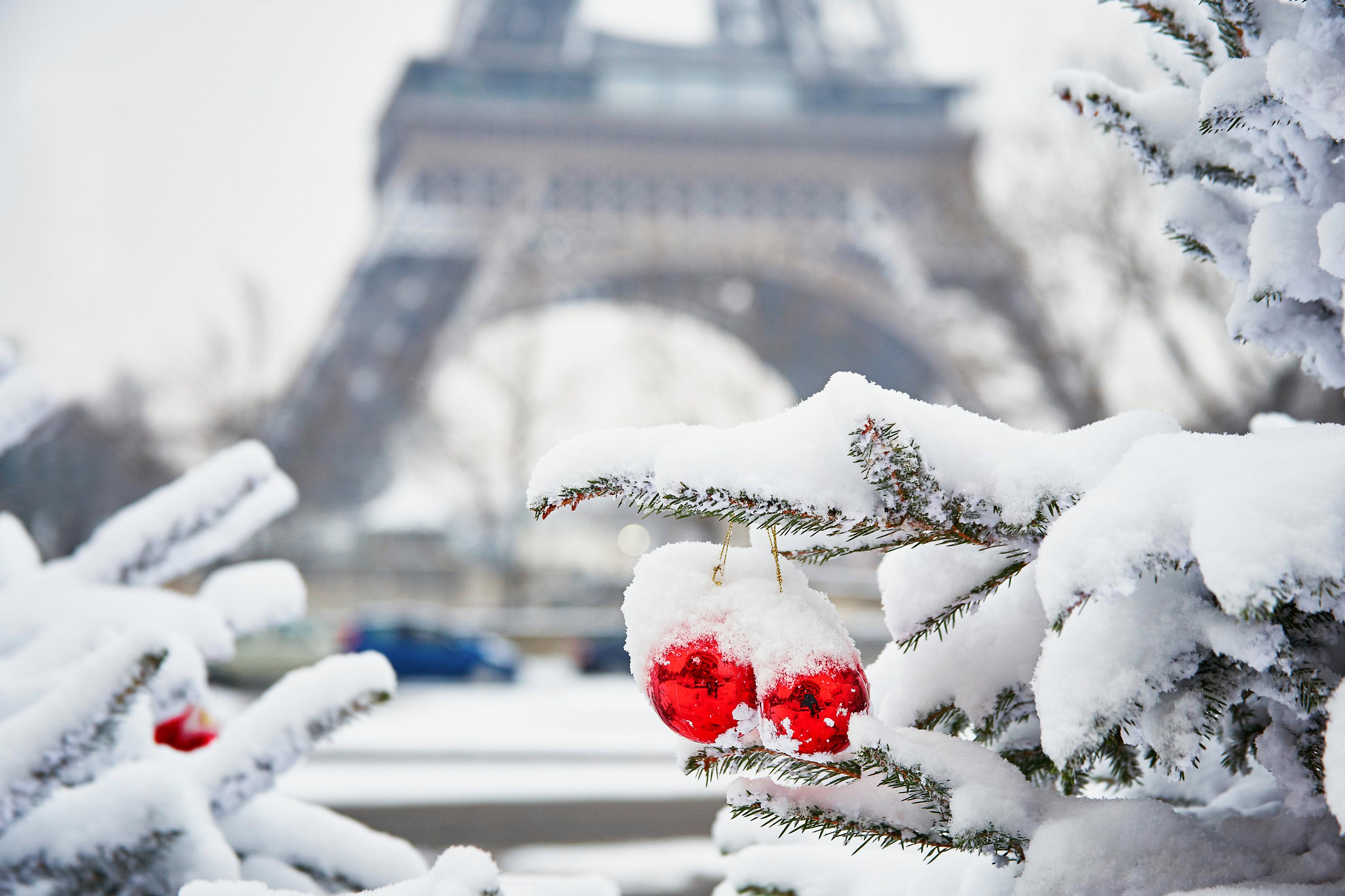 Надписями, открытка с новым годом париж