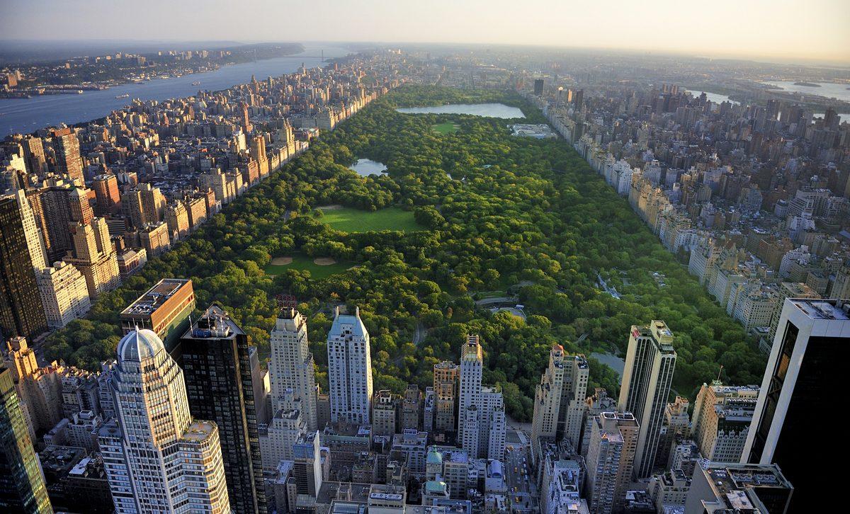 New York City skyline with Central Park.